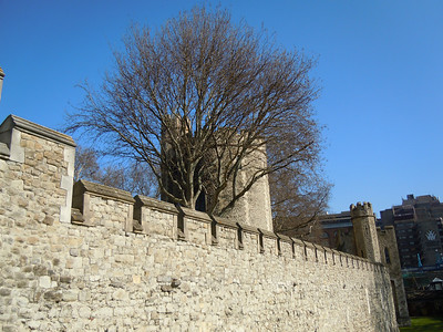 Tower of London across outside wall