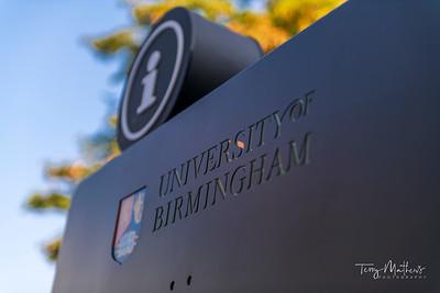 University of Birmingham Campus Sign