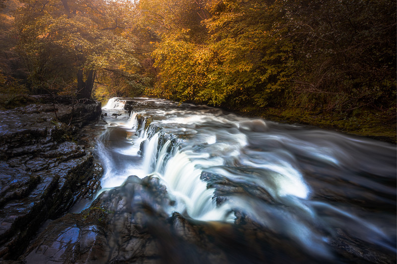 Misty Autumn - Four Falls Trail, Brecon Beacons National Park, Wales United Kingdom