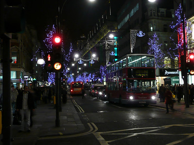 Looking west down Oxford Street.