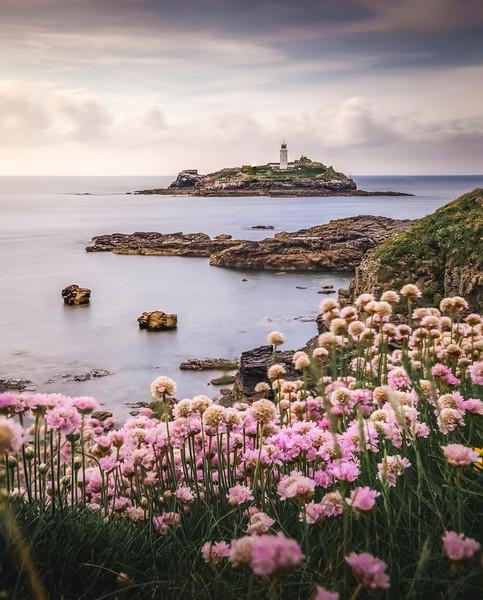 Coastal Springtime! - Godrevy Lighthouse, Cornwall