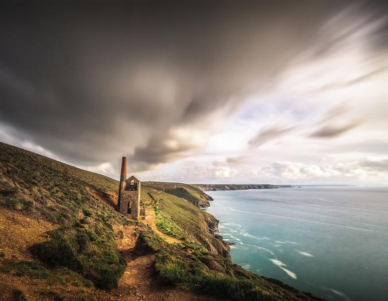The Chimney Storm! - Wheal Coates, Cornwall