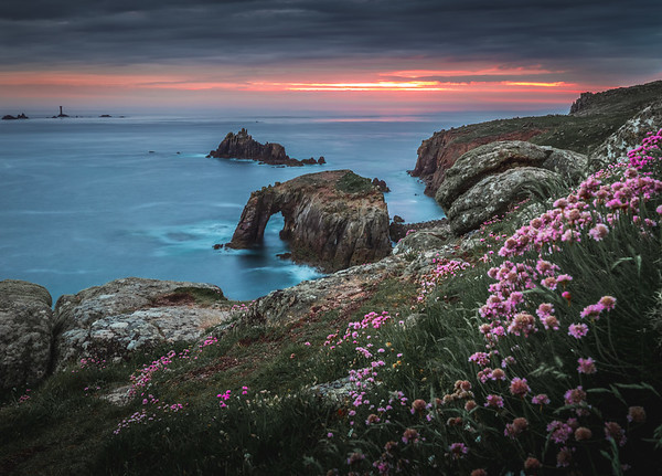 Spring Sunset at Enys Dodnan Arch! - Land's End, Cornwall