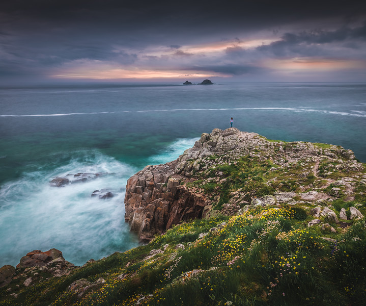 On the edge of England - Porth Nanven, Cornwall