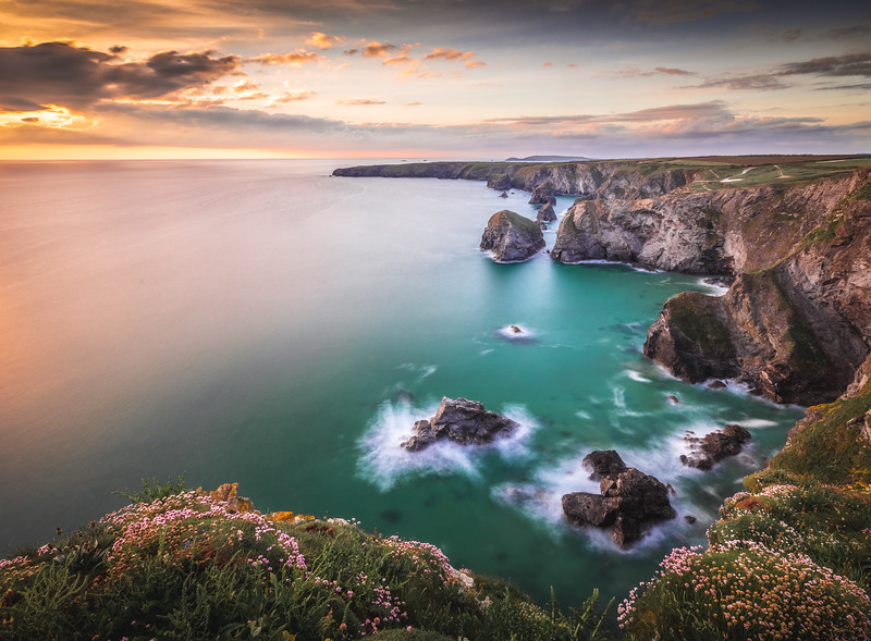 Sunset Colours - Bedruthan Steps, Cornwall