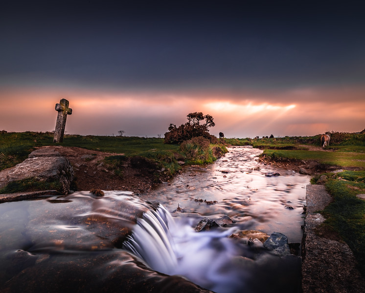 Sky on fire - Windy Post, Dartmoor