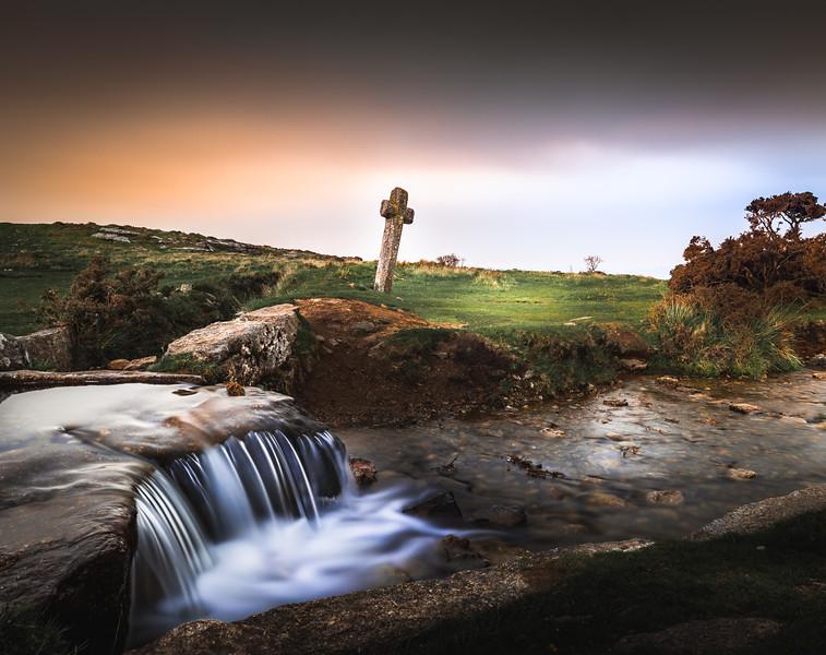 Windy Post Granite Cross - Dartmoor