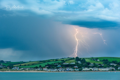 UK Weather: Spectacular lightning  show over Instow, North Devon.