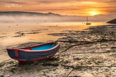 UK Weather: Misty Sunrise over Appledore, North Devon