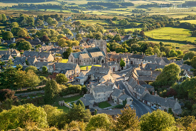 Corfe Village Late Afternoon