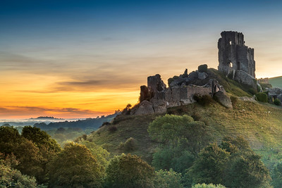 Corfe Castle First Light