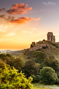 Corfe Castle at Dawn
