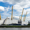 29517545 - view of the o2 building from the river thames