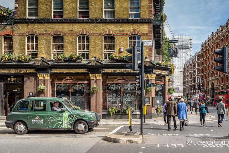 Heineken Cab Outside a Pub