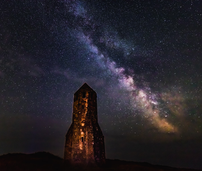 Under the stars! - St. Catherine's Oratory, Isle of Wight