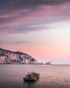 Pastel Dusk - The Needles, Isle of Wight