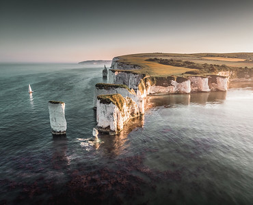 Sunset Sailer! - Old Harry Rocks, Jurassic Coast