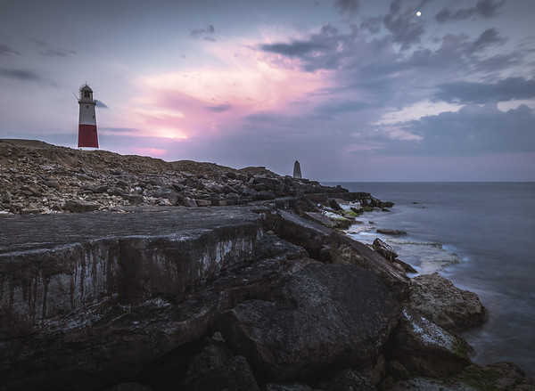 Moon over Portland Bill Lighthouse! - Isle of Portland