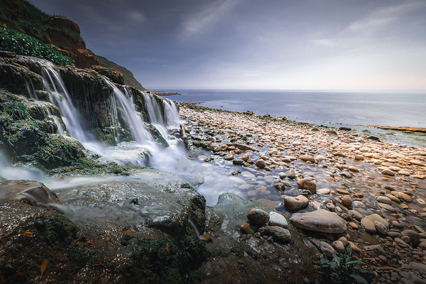 Into the sea - Osmington Mills, Jurassic Coast