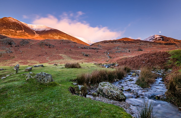 Sun and Moon - Buttermere, Lake District