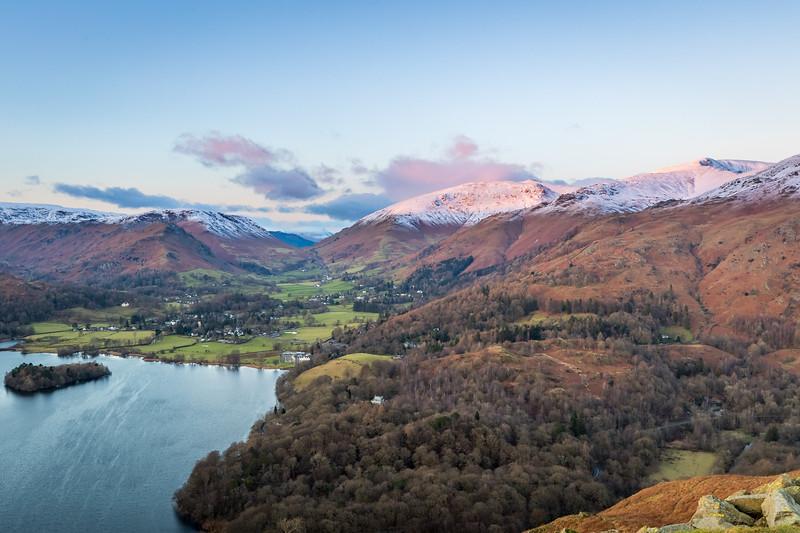 Winter Sundown - Loughrigg Fell, Lake District