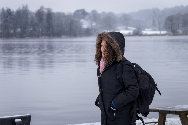 Embracing the cold - Windermere, Lake District