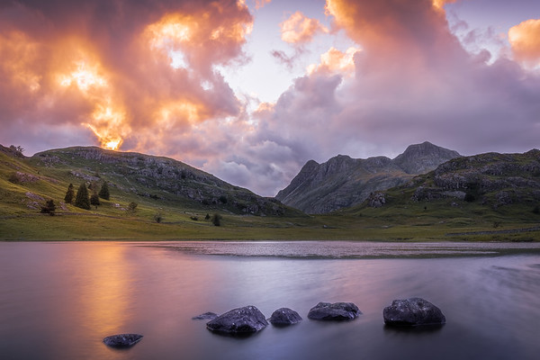 Sunset at Blea Tarn - Lake District, United Kingdom