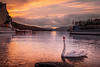 Swimming in fire! - Bowness-on-Windermere , Lake District