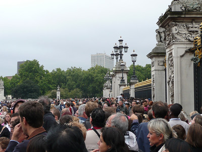 Packed just before the changing of the guard ceremony.