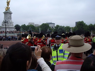 The band passes.