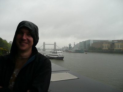 Its fugly keeping dry. Tower bridge and the HMS Belfast.