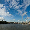London Eye and Thames river