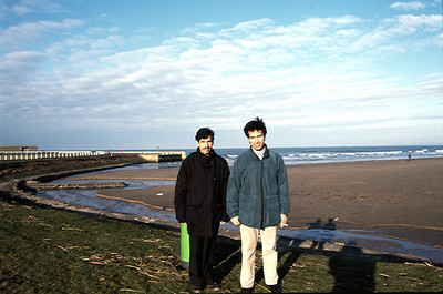 With Dr. Akhtar Kassi in Scotland somewhere along the eastern coast of the fife region.