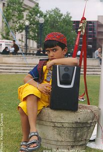 The Sulking Boy! Centernary Square, Birmingham (UK).