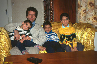 With Dr Kassi's children (Fife - Scotland: Jan. 1996)