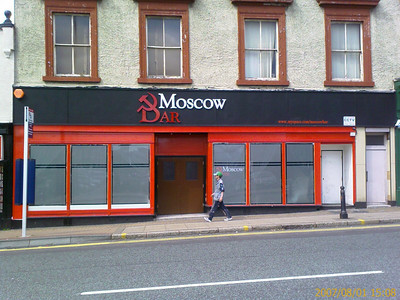 The Moscow Bar is situated in Wolverhampton (UK). Photo was taken from a mobile camera!