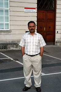 Dr Mehrab Baloch in front of Dept. of Earth Sciences, Cardiff University (UK).