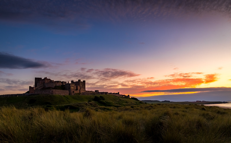 Celtic Sunset - Bamburgh Castle, Northumberland
