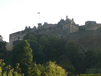 Edinburgh Castle from the Princes Street Gardens
