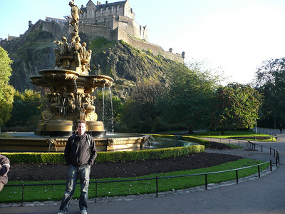In the Princes Street gardens