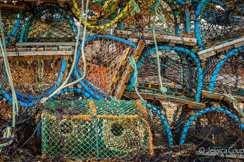 Traps at Portree Harbor