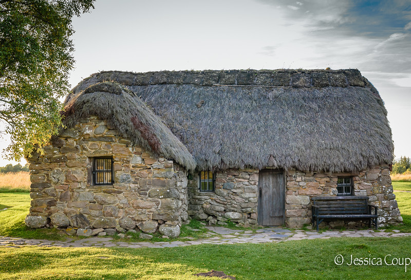 Leanach Cottage on Culloden Battlefield