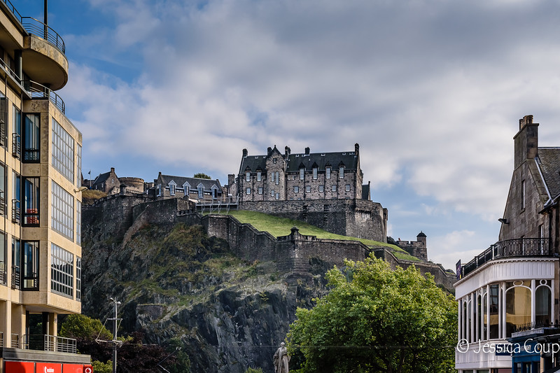 Castle Perched on Rocky Crag