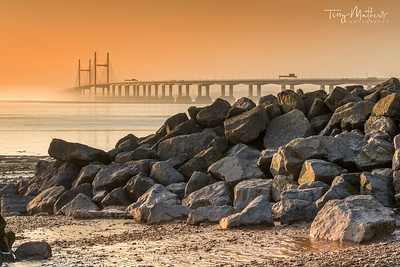 Second Severn Crossing at Dusk