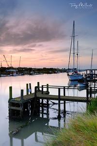 Dawn on the Blyth, Walberswick, Suffolk -  England