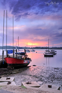 The Deben Estuary at dawn - Waldringfield, Suffolk, England