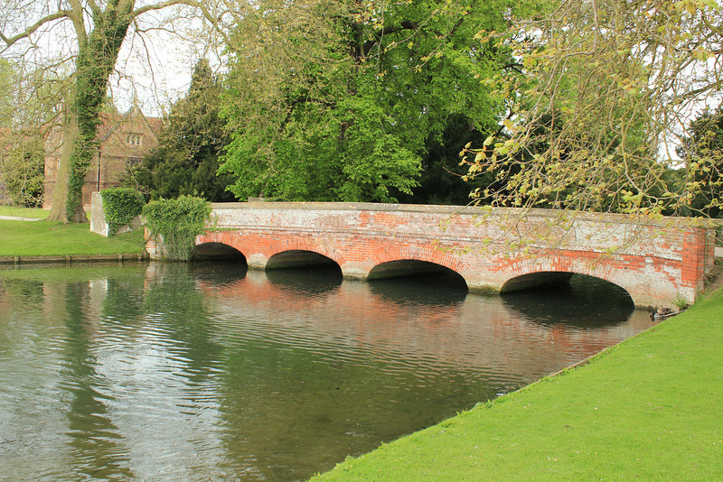 Bridge to Stables, Audley End House just outside Saffron Walden, Essex, south of Cambridge, England
