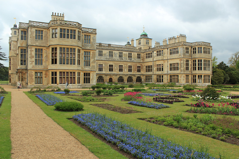 Rear View, Audley End House just outside Saffron Walden, Essex, south of Cambridge, England