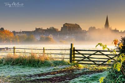 November Sunrise Over Malmesbury