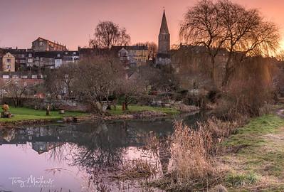 Malmesbury Abbey at Dawn